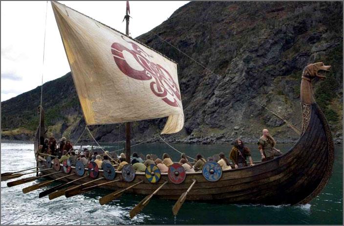 Древнерусский город купцы варяги викинги ладья река