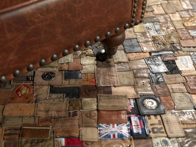 ковер своими руками из лэйблов от джинсов