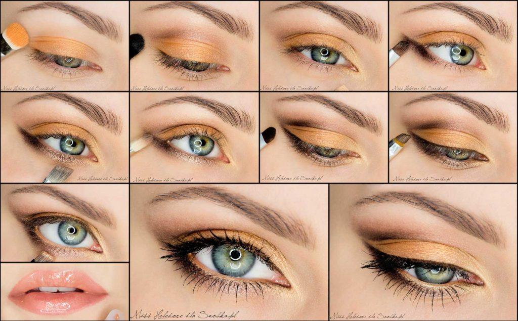Как сделать выразительные глаза макияж пошагово с