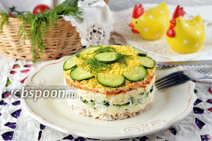 Слоеный салат курочка ряба рецепт с