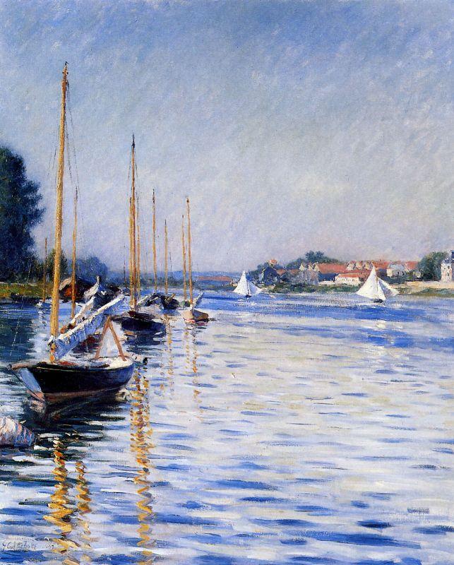«В небе тают облака, и, лучистая на зное, в искрах катится река…» Французский художник Gustave Caillebotte (1848 – 1894)