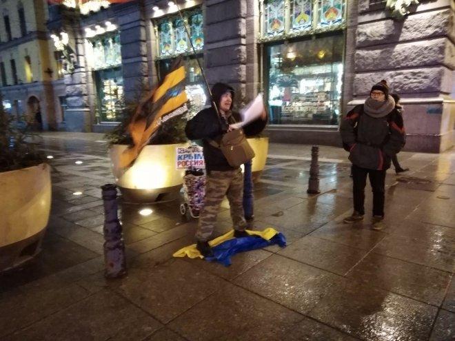 Активист потоптался на украи…