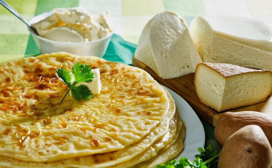 Лепешка с картофелем и сыром рецепт