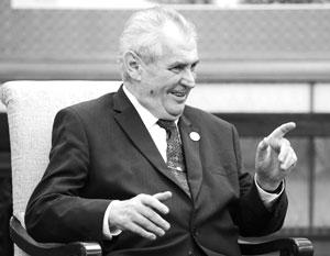 Земан назвал встречу в Беловежской пуще «алкогольными посиделками»