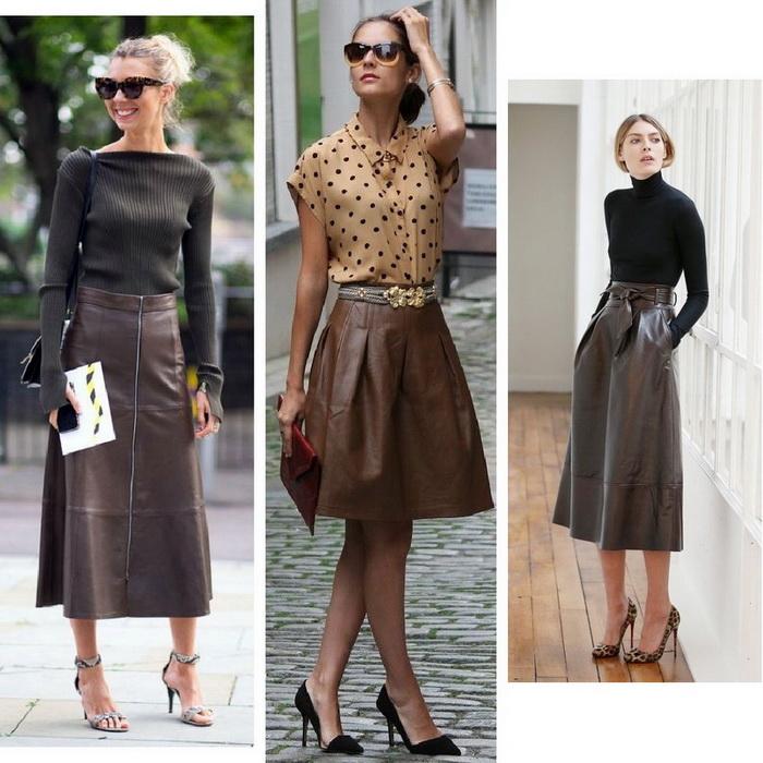 Кожаная юбка - носим красиво!