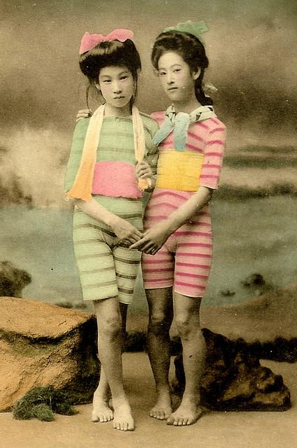 винтажные открытки с гейшами