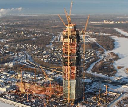 Строительство самого высокого русского небоскреба завершится в 2018 году