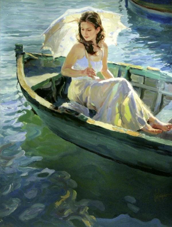 автор видишь себя нарисованным в лодке