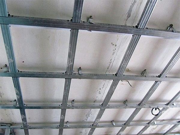 Каркас на потолок своими руками