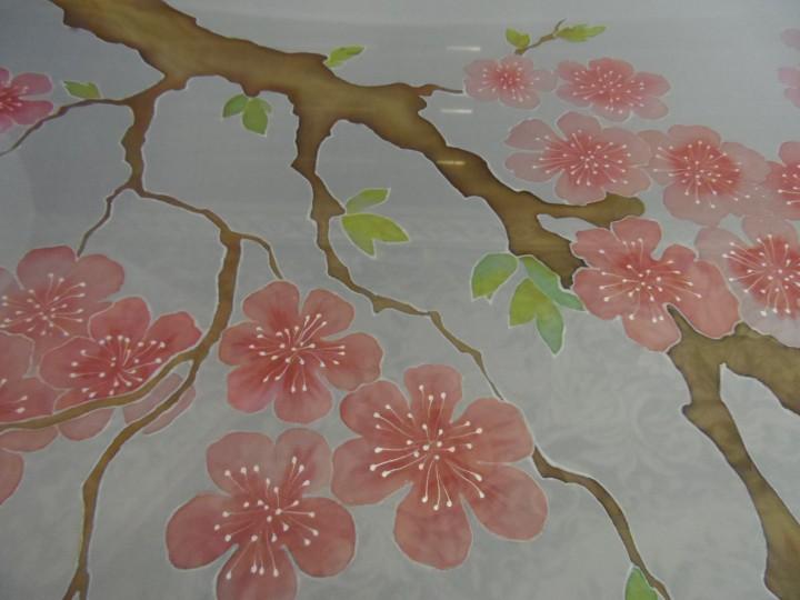 Штора. Цветущая сакура.