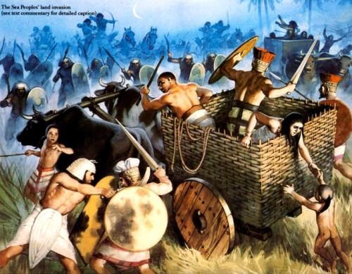"""Морская битва с """"Народами Моря"""" (1190 г. до н.э.)"""