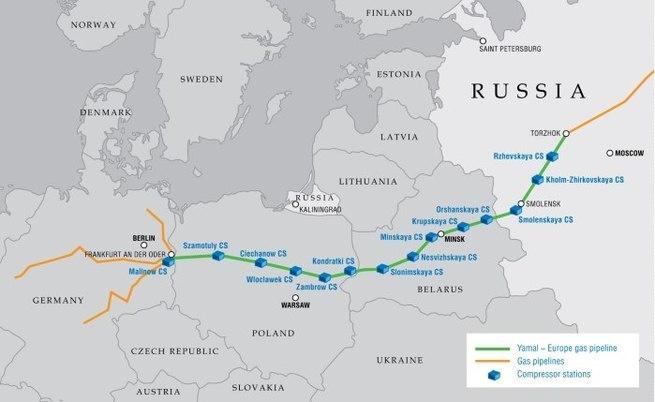 Россия готова прекратить поставки газа в Польшу
