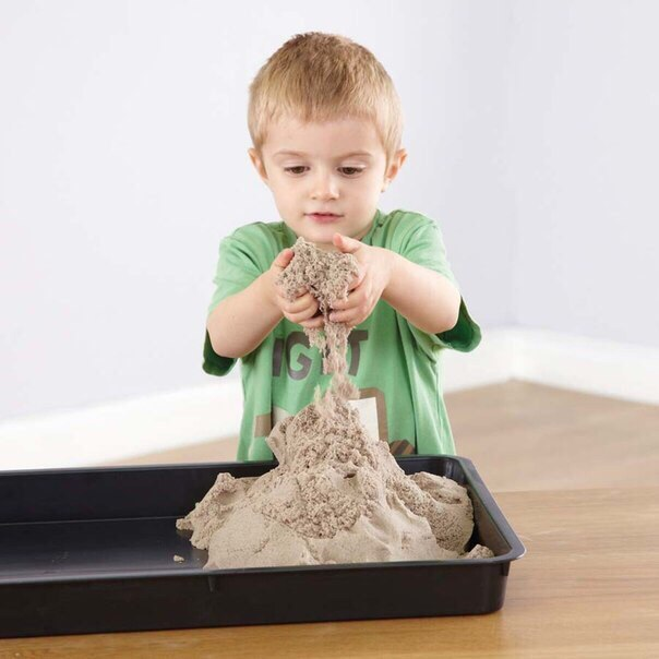 Кинетический песок для детей можно сделать своими руками