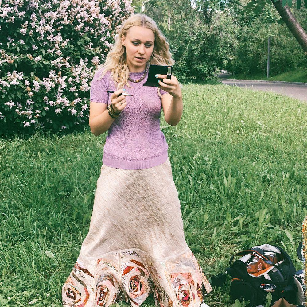 Как сшить лоскутную юбку из дикого шелка. Часть 1