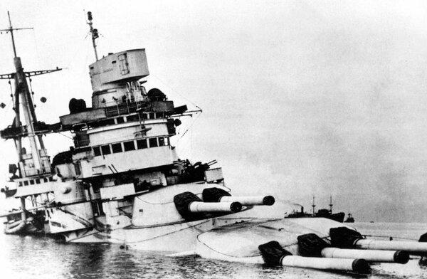 «Конте ди Кавур» : самый невезучий линкор в истории,   который трижды тонул