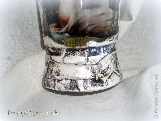 Декор предметов, Мастер-класс Декупаж: Каменные баночки. Имитация. Банки стеклянные, Бумага журнальная. Фото 21