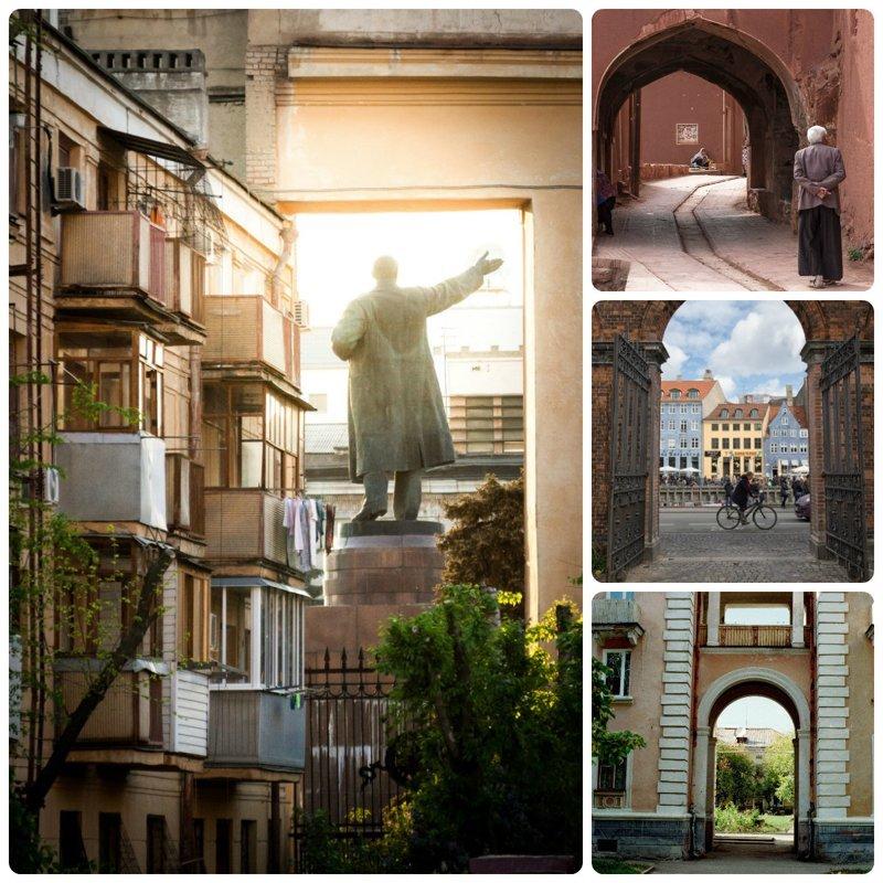 Взгляд на город через арки