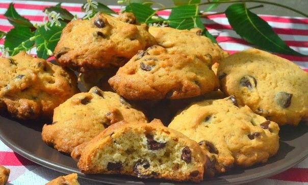 Замечательное песочное печенье с кусочками шоколада — детки его обожают!