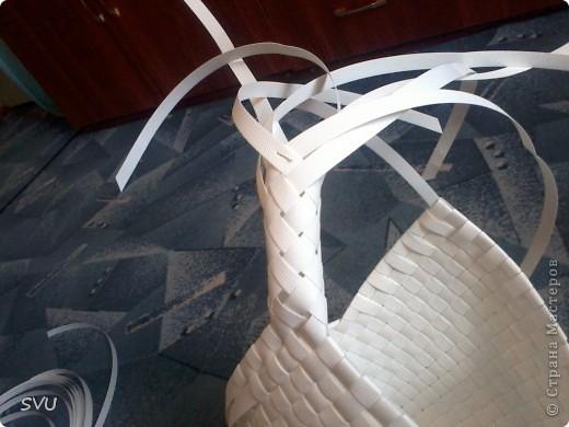 Мастер-класс Плетение Плетение корзинки из упаковочной полипропиленовой стреппинг ленты Полиэтилен фото 40