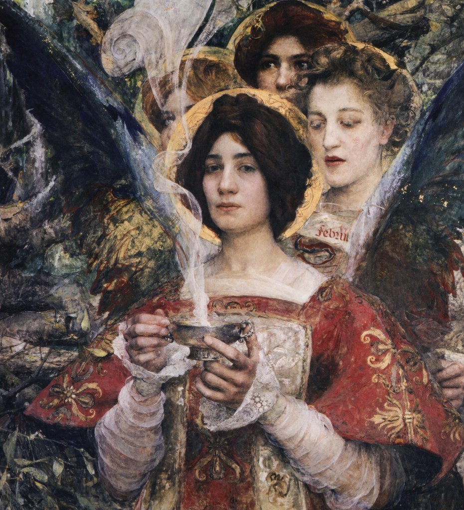 «Женщина — тайна небес…» Французский художник Edgar Maxence (1871 — 1954)