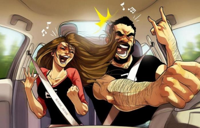 А вы тоже умудряетесь петь в машине? Автор: Yehuda Adi Devir.