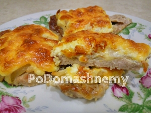 Фото к рецепту: Сочное мÑÑо в духовке под шубой