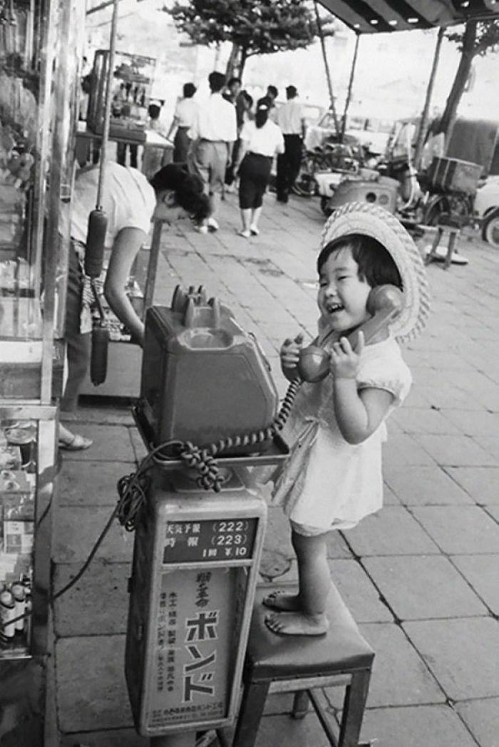 39. Девочка в Японии, 1958 год  детство, прошлое, фотография