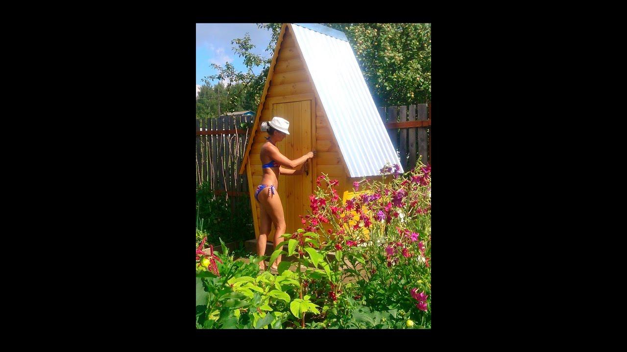 Если молодые женщины в полуголом виде сколачивают дачные туалеты .. (О плотницких работах на свежем воздухе)