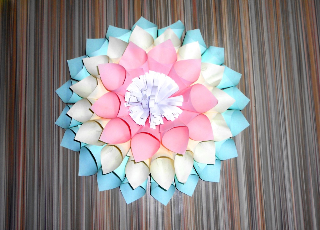 Цветы из бумаги. Большие цве…