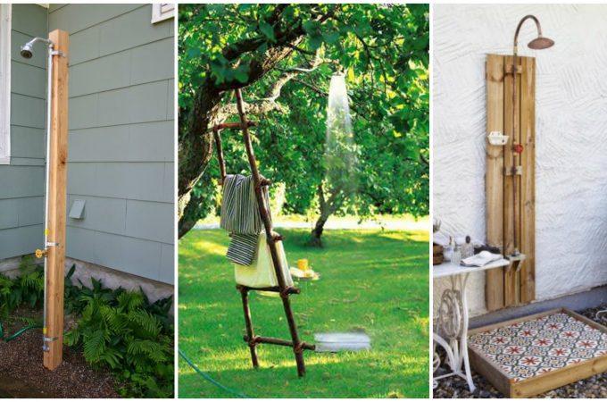 Дачный летний душ: 10 интересных и простых идей