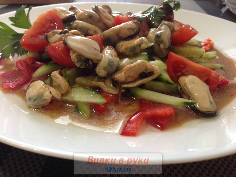 Салат из мидий рецепт с очень