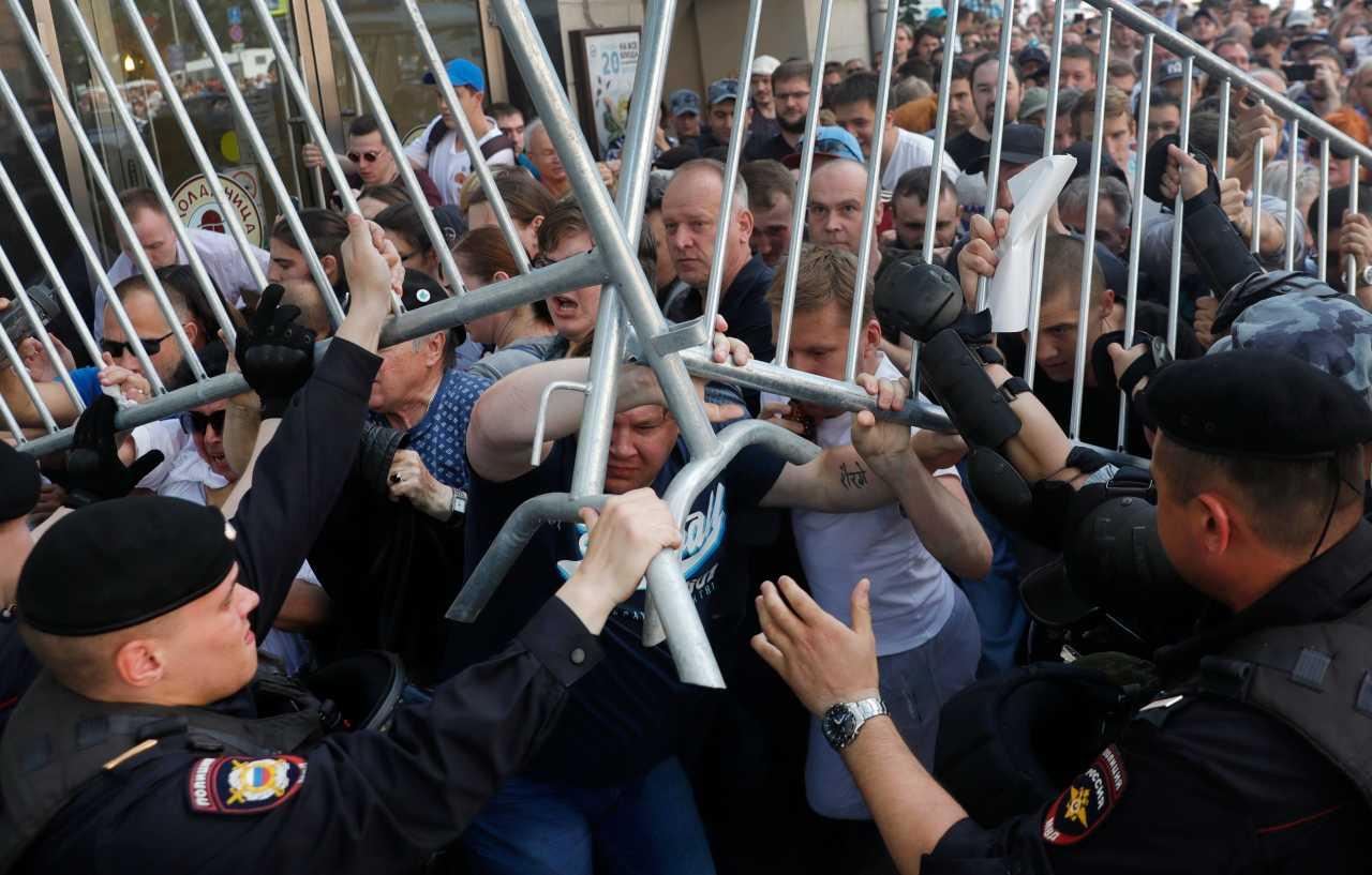 Митингующие в Москве добились американских санкций