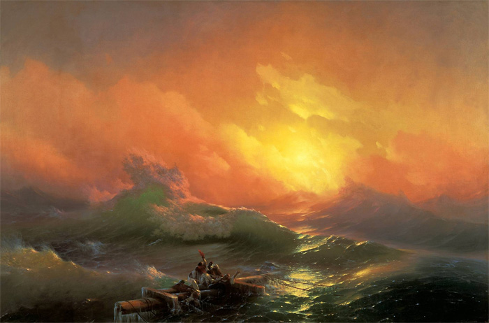 Между жизнью и смертью, или «Девятый вал» (1850)
