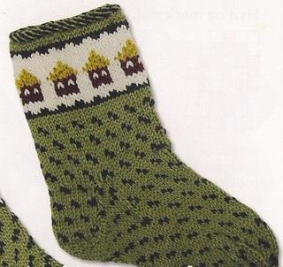 схема вязания детских носков спицами