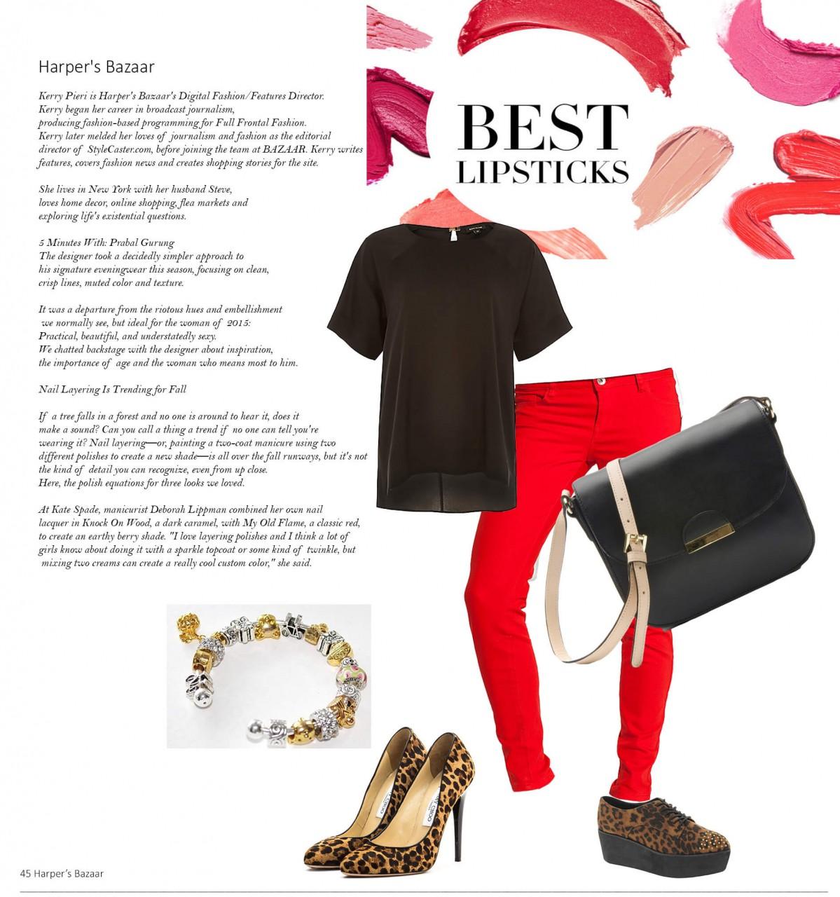С чем носить красные брюки — фото модных сочетаний