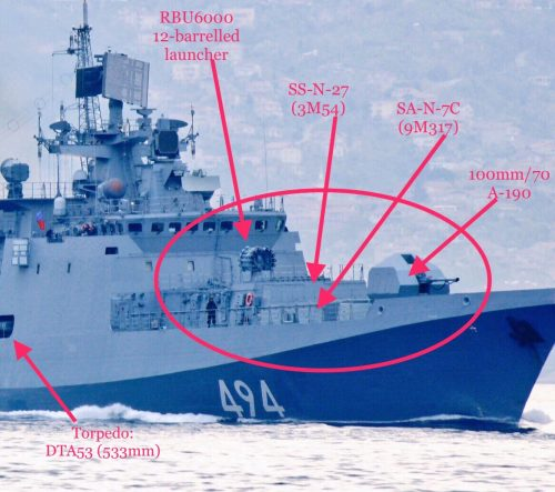 Американские корабли готовы «действовать по ситуации», в отношении приближающегося российского фрегата