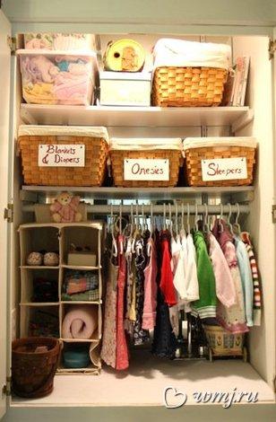 Как разложить одежду в шкафу