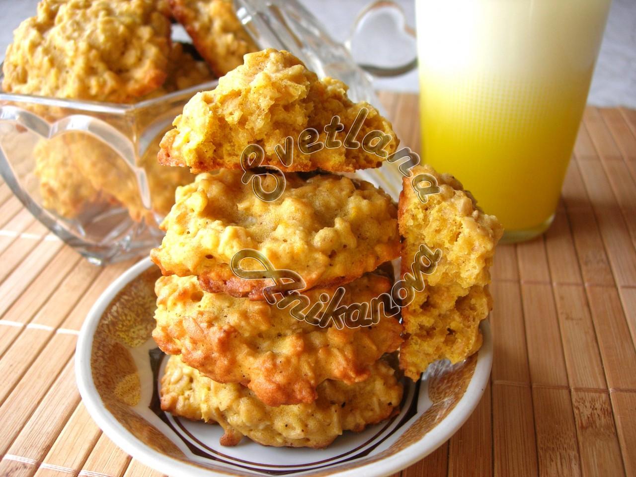 Овсяно-тыквенное печенье полезный десерт для самых близких