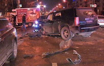 Стали известны подробности ДТП с участием семи машин в Москве