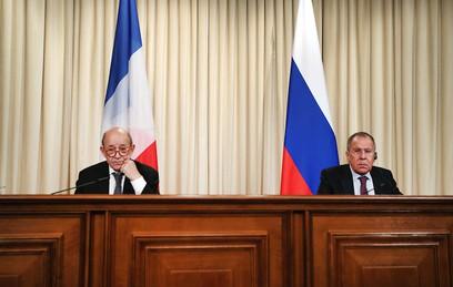 Лавров обсудил ситуацию в Сирии с главой французского МИД