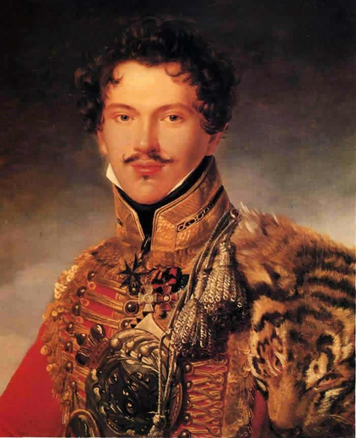 Л. Ризенер. Портрет офицера лейб-гвардии Гусарского полка П.П. Лачинова. До 1814г.