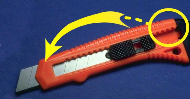 А вы знаете для чело нужна эта деталь на канцелярском ноже? Оказывается у нее есть важная функция