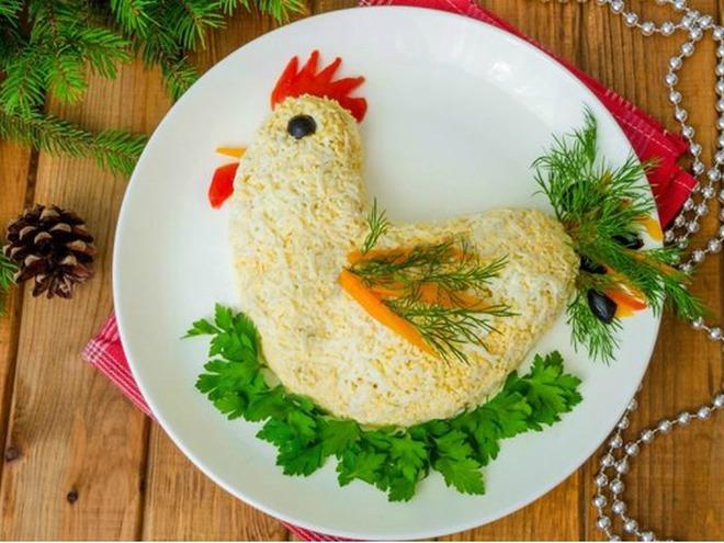 салат в виде петуха фото