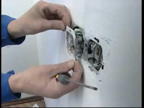 Монтаж электропроводки своими руками выключатель