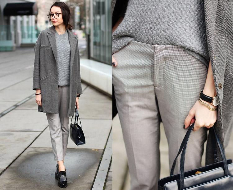 6 стильных вещей для образа total grey зимой: 25 лучших образов