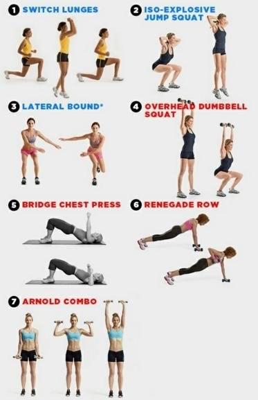 Эффективный комплекс упражнений для жиросжигания