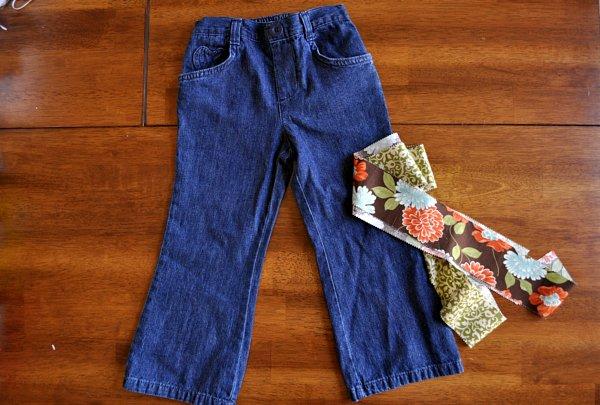 Оригинальный способ удлинить детские джинсы