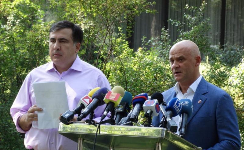 """Труханов больше не """"вор"""", """"сепаратист"""" и """"пахан"""" – Саакашвили помирился с мэром Одессы ради """"Евровидения"""""""