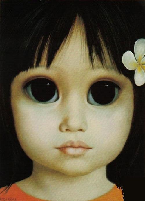 Большие глаза от художницы Маргарет Кин. ¦ Фото:livejournal.com.