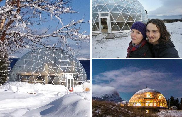 3 года в Арктике живёт норвежская семья благодаря геокуполу